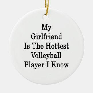 Mi novia es el jugador de voleibol más caliente I Adorno Redondo De Cerámica