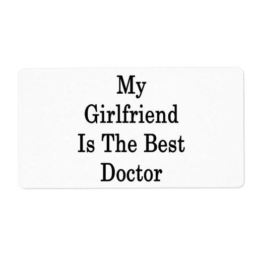 Mi novia es el mejor doctor etiquetas de envío