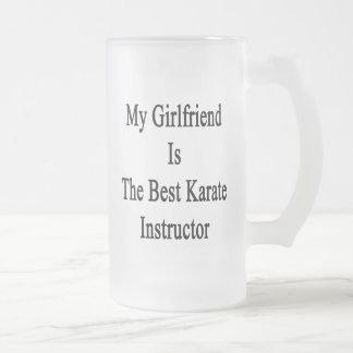 Mi novia es el mejor instructor del karate taza cristal mate