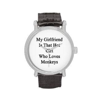 Mi novia es ese chica caliente que ama monos