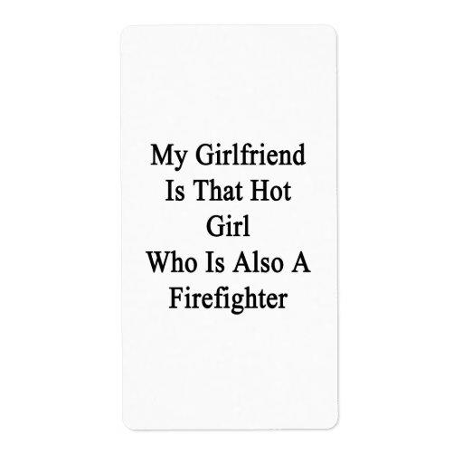 Mi novia es ese chica caliente que es también un F Etiqueta De Envío