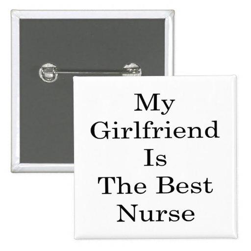 Mi novia es la mejor enfermera pins