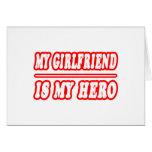 Mi novia es mi héroe tarjeta