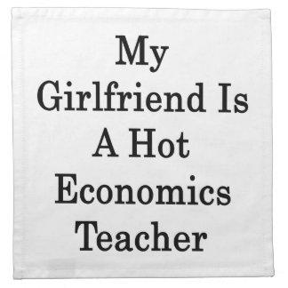 Mi novia es profesor caliente de la economía servilletas