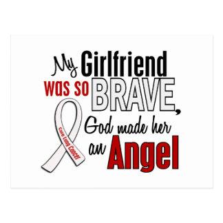 Mi novia es un cáncer de pulmón del ángel tarjetas postales