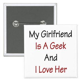 Mi novia es un friki y la amo pin cuadrado