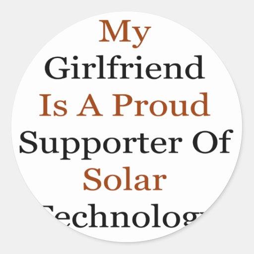 Mi novia es un partidario orgulloso de Techno Etiqueta Redonda
