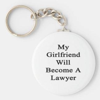 Mi novia hará abogado llavero redondo tipo pin