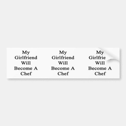 Mi novia hará cocinero pegatina de parachoque
