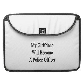 Mi novia hará oficial de policía funda macbook pro