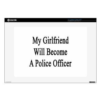 Mi novia hará oficial de policía skins para 38,1cm portátil