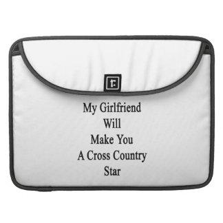 Mi novia le hará una estrella del campo a través funda para macbooks