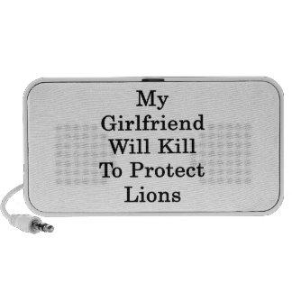 Mi novia matará para proteger leones laptop altavoz