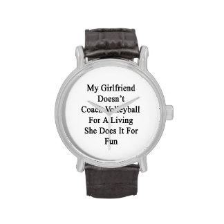 Mi novia no entrena el voleibol para un Livin Reloj De Mano