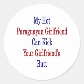 Mi novia paraguaya caliente puede golpear su pegatina redonda