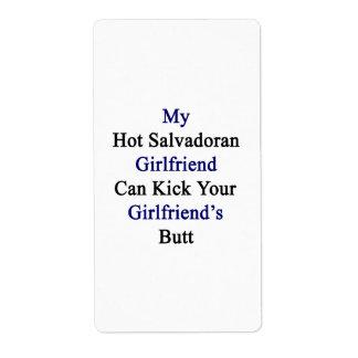 Mi novia salvadoreña caliente puede golpear su Gir Etiquetas De Envío