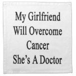 Mi novia superará al cáncer que ella es doctor servilletas imprimidas