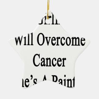 Mi novia superará al cáncer que ella es pintor adorno de cerámica en forma de estrella