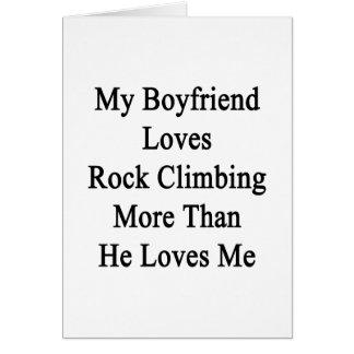 Mi novio ama la escalada más que él ama tarjetón