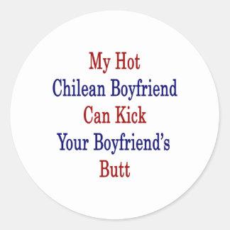 Mi novio chileno caliente puede golpear a su novio pegatina redonda