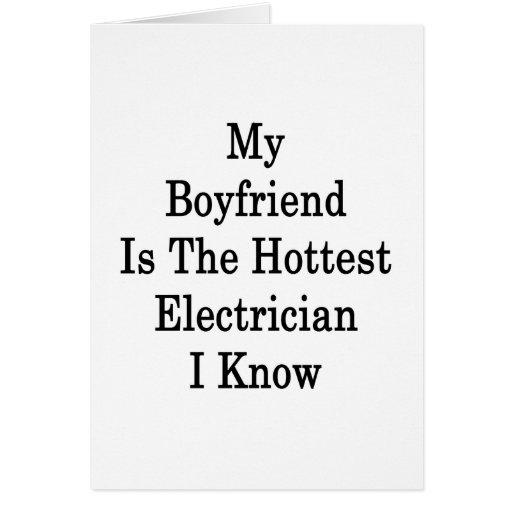 Mi novio es el electricista más caliente que conoz tarjeta pequeña