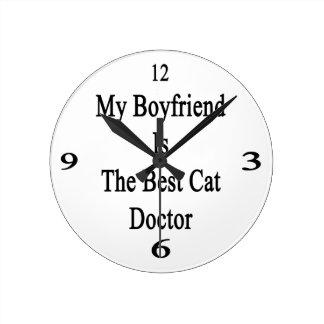Mi novio es el mejor doctor del gato reloj de pared