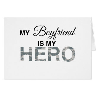 Mi novio es mi camuflaje de Digitaces del héroe Tarjeta De Felicitación