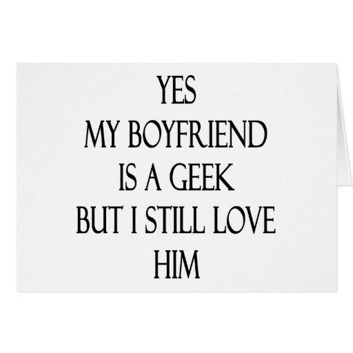 Mi novio es sí un friki pero todavía lo amo felicitacion