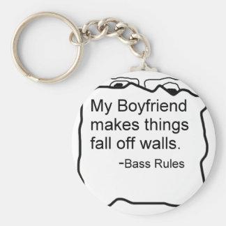 Mi novio hace cosas se cae de las paredes. Bajo Llaveros Personalizados