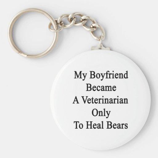 Mi novio hizo veterinario a curar solamente sea llavero redondo tipo pin