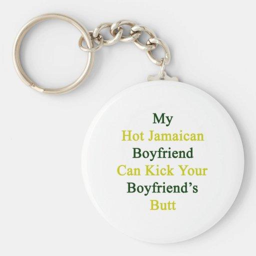 Mi novio jamaicano caliente puede golpear su Boyfr Llavero Redondo Tipo Pin