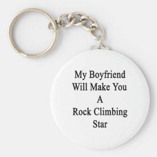 Mi novio le hará una estrella de la escalada llavero redondo tipo chapa