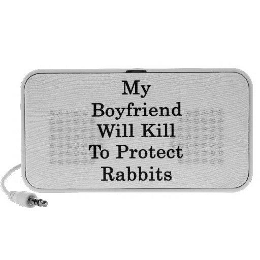 Mi novio matará para proteger conejos PC altavoces