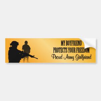 Mi novio protege su libertad (novia del ejército pegatina para auto