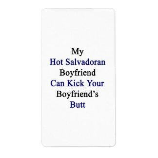 Mi novio salvadoreño caliente puede golpear su Boy Etiquetas De Envío