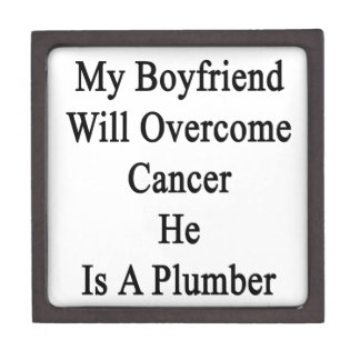 Mi novio superará al cáncer que él es fontanero caja de recuerdo de calidad