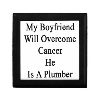 Mi novio superará al cáncer que él es fontanero caja de joyas