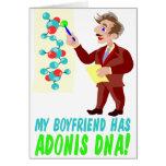 Mi novio tiene DNA de Adonis Felicitacion