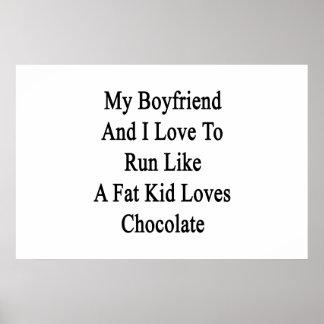 Mi novio y yo amamos correr como un amor gordo del póster
