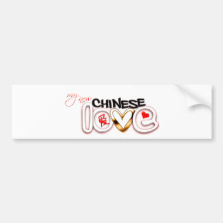 Mi nuevo amor chino pegatina para auto