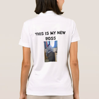 Mi nuevo jefe polo camiseta