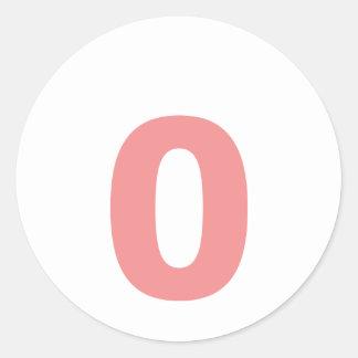 Mi número es 0 etiquetas redondas