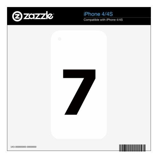 ¡Mi número es 7! iPhone 4 Skin