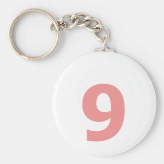 Mi número es 9 llavero redondo tipo pin