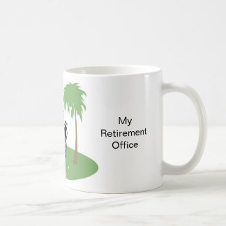 Mi oficina del retiro taza básica blanca
