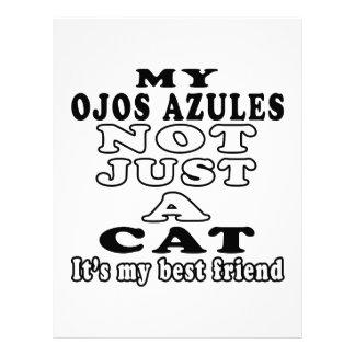 Mi Ojos Azules no apenas un gato es mi mejor amigo Membretes Personalizados