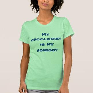Mi oncólogo es mi camiseta del homeboy para las