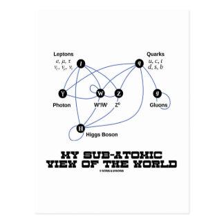Mi opinión subatómica del mundo (bosón de Higgs) Postal