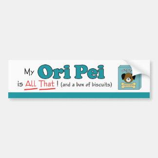¡Mi Ori Pei es todo el eso! Pegatina Para Auto