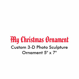 "Mi ornamento 5"" de la escultura de la foto del adorno fotoescultura"